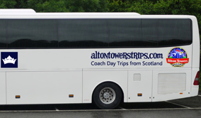 Alton Towers Coach from Scotland.